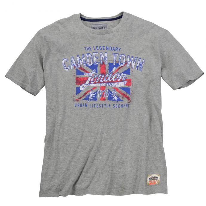 "T-Shirt mit ""Camden-Town""-Print, kurzarm grau_89 | 3XL"