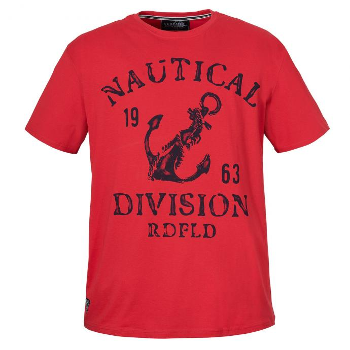 "T-Shirt auffälligem ""Nautical Division""-Print rot_200 | 3XL"