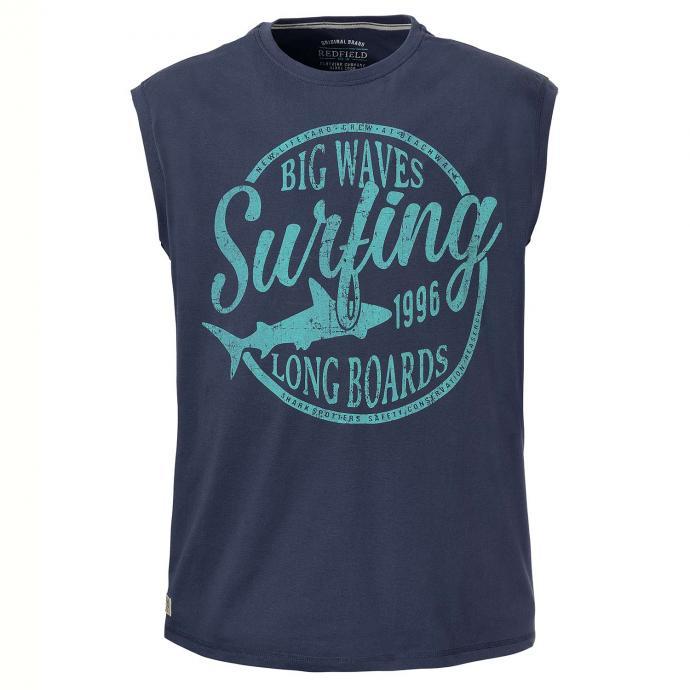 """Tanktop mit gummiertem """"Big Waves Surfing""""-Print jeansblau_189   3XL"""