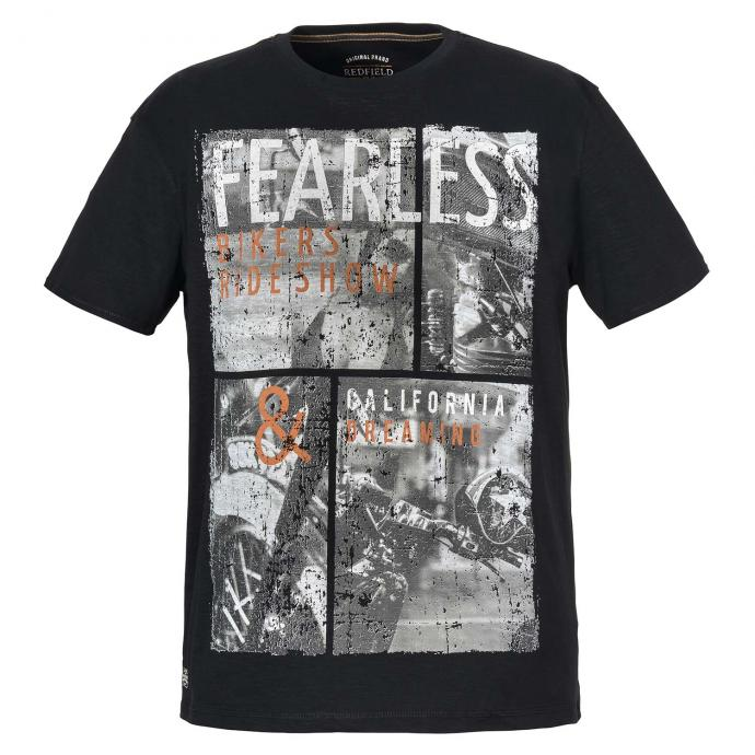 "T-Shirt mit Frontprint ""Fearless"" schwarz_15 | 3XL"