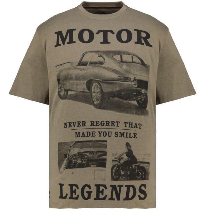"""T-Shirt mit großem Autoprint """"Motor Legends"""" oliv_811/65   3XL"""