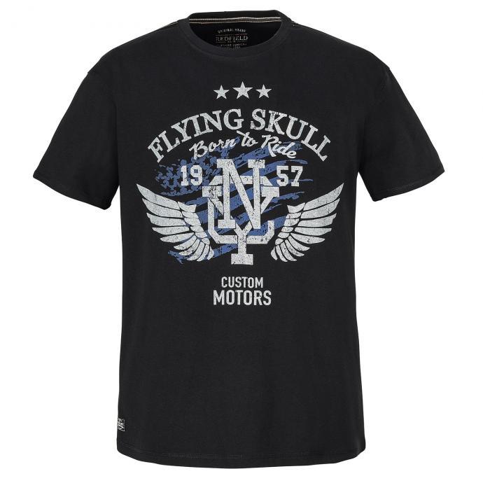 """T-Shirt mit Rundhalsausschnit """"Flying Skull"""" schwarz_15   3XL"""