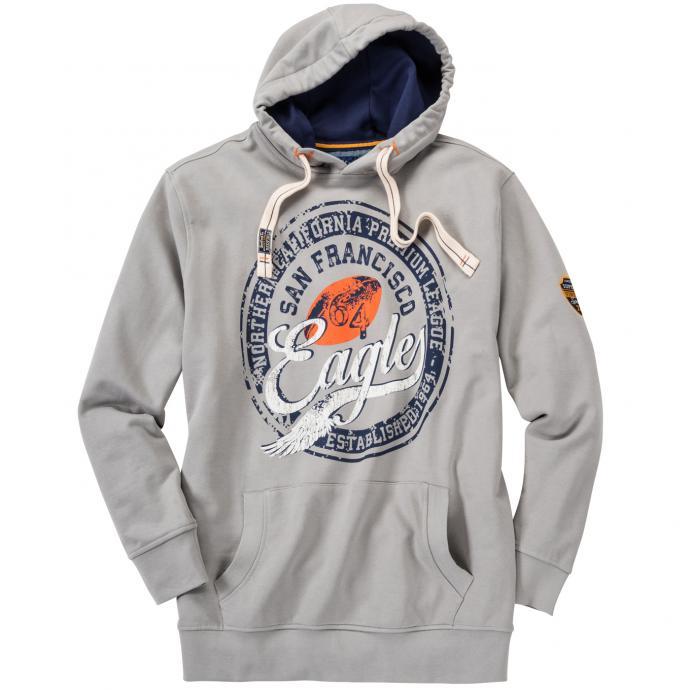 Lässiges Sweatshirt mit Kapuze grau_769 | 3XL