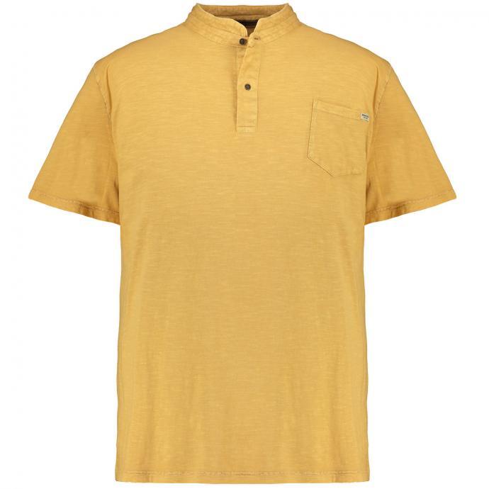 T-Shirt mit Serafinokragen im Vintagelook curry_874   3XL