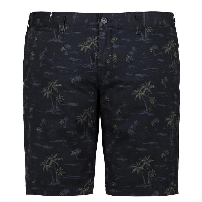 Chino-Shorts mit Palmen-Print dunkelblau_0800 | 31