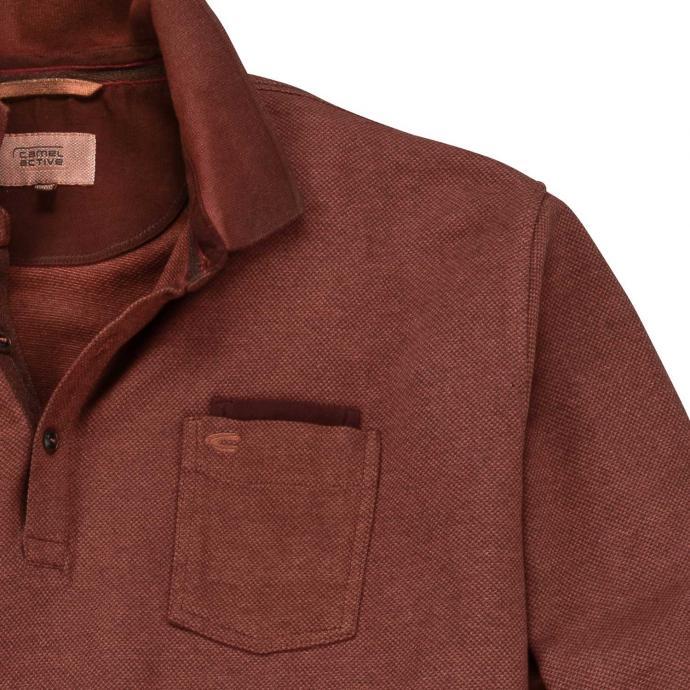 usa cheap sale discount release info on camel active Hemd Sportliches Poloshirt in Melange-Optik, langarm