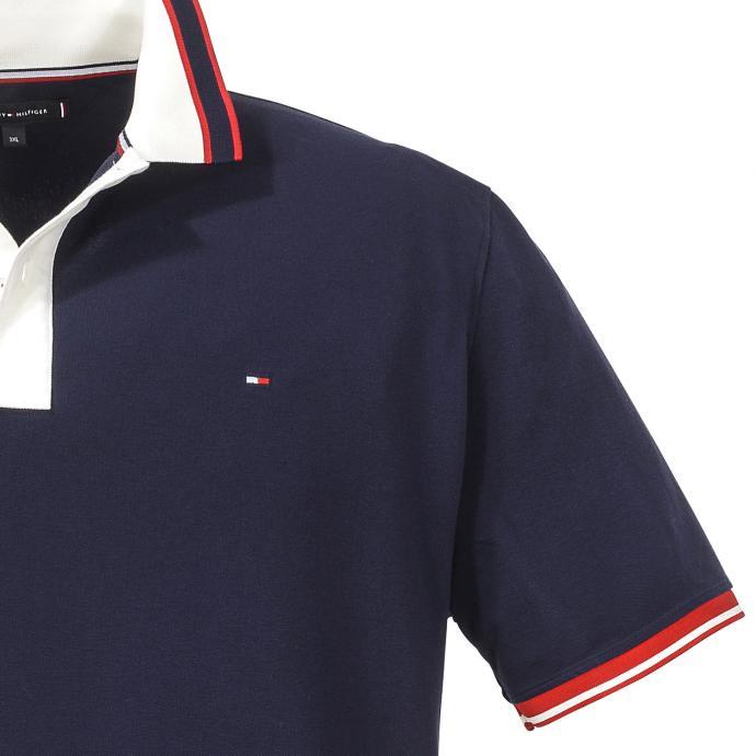half off 1dec1 420af Tommy Hilfiger Poloshirt mit kontrastfarbigen Kragen