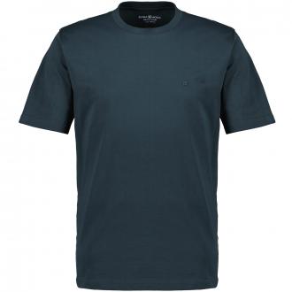 T-Shirt mit Rundhalsausschnitt dunkelgrün_343   4XL