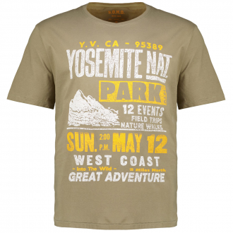 "T-Shirt mit broken Motiv-Print ""Yosemite"" khaki_500 | 3XL"