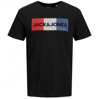 T-Shirt mit prominentem Label-Print schwarz_BLACK   3XL