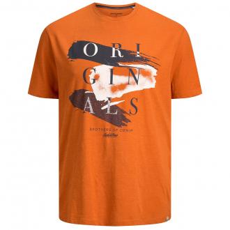 """T-Shirt mit Print """"Originals"""" in Flammgarnstruktur rost_SUNSET   3XL"""