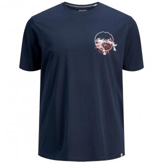 T-Shirt aus Baumwolljersey mit Logo- und Botanikprint marine_NAVY | 3XL