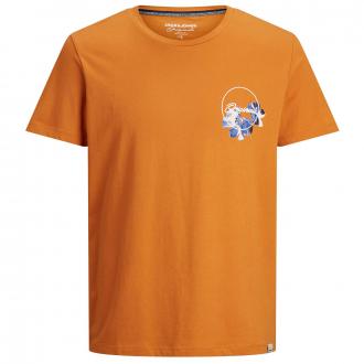 T-Shirt aus Baumwolljersey mit Logo- und Botanikprint rost_SUNSET | 3XL