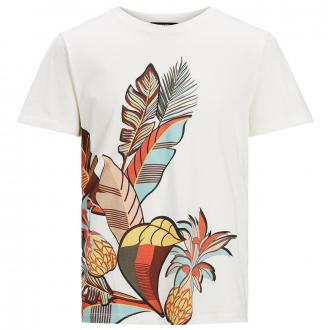 T-Shirt mit angesagtem Tropical-Print natur_EGRET | 3XL
