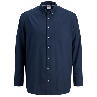 Baumwollhemd mit Brusttasche, langarm marine_NAVY | 3XL