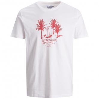 T-Shirt aus Baumwoll-Jersey mi Surfer-Motiv weiß_WHITE | 3XL