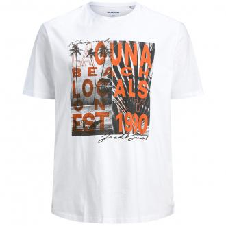 """Baumwoll-T-Shirt mit Fotoprint im Retrostyle """"Laguna Beach"""" weiß_WHITE   3XL"""