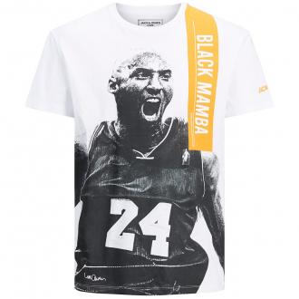 "T-Shirt mit Print ""Black Mamba"" - limited edition original art tribute weiß_WHITE   3XL"