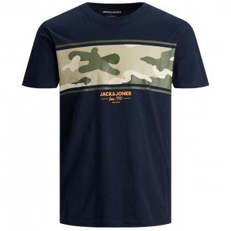 T-Shirt aus Baumwolljersey mit Camouflage mit Print marine_NAVY   3XL