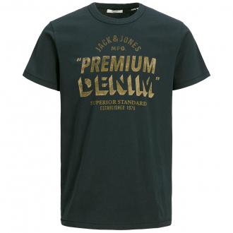 T-Shirt aus Baumwolle mit Print schwarz_CAVIAR/1   3XL