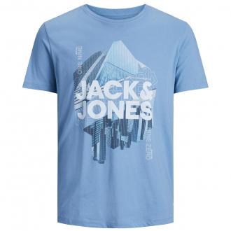 "T-Shirt aus Baumwolljersey mit ""New York""-Print blau_BLUE   3XL"