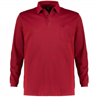 "Weiches Poloshirt ""Soft Knit & Stay Fresh"",langarm rot_382/50   3XL"
