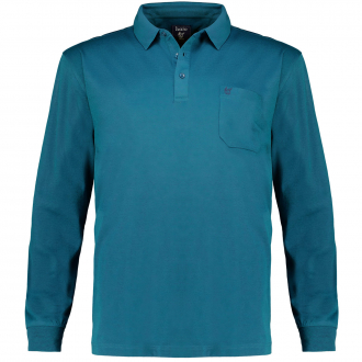 "Weiches Poloshirt ""Soft Knit & Stay Fresh"",langarm grün_750 | 3XL"