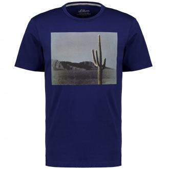 T-Shirt mit Fotoprint blau_5693   3XL