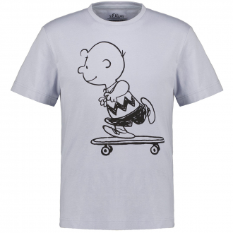 "T-Shirt mit Print ""Charlie Brown"" hellblau_52A1/42 | 3XL"