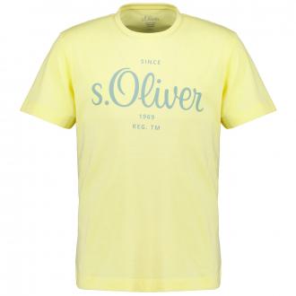 T-Shirt mit Logo-Print gelb_1170   3XL