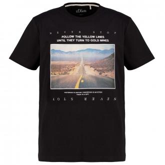 Statement T-Shirt mit Fotoprint schwarz_9999 | 3XL