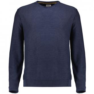 Rundhalspullover aus reiner Baumwolle dunkelblau_47/400   3XL