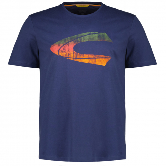 T-Shirt aus Baumwolljersey mit Logo-Print dunkelblau_49 | 3XL