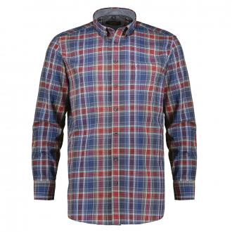 Kariertes Freizeithemd aus Baumwolle, langarm rot_400   XXL