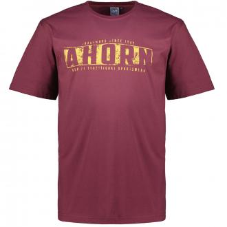 T-Shirt aus Baumwolljersey mit Print weinrot_230 | 3XL