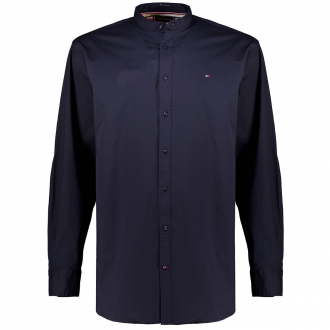 Hemd mit Stehkragen aus Stretch-Baumwolle marine_DW5 | 4XL