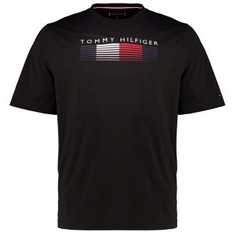Premium T-Shirt aus Biobaumwolle mit HILFIGER Print schwarz_BDS   3XL