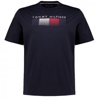Premium T-Shirt aus Biobaumwolle mit HILFIGER Print marine_DW5   3XL