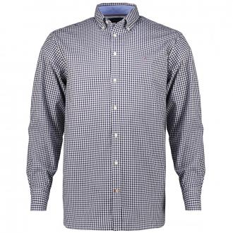 Kariertes Freizeithemd aus Bio-Baumwolle blau/weiß_0MS   3XL