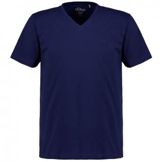 Legeres T-Shirt mit V-Auschnitt blau_5693 | 3XL