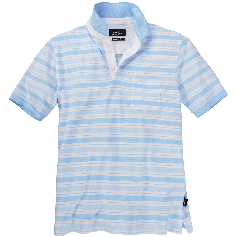 competitive price f285e d7d1e Maselli Gestreiftes Poloshirt kurzarm
