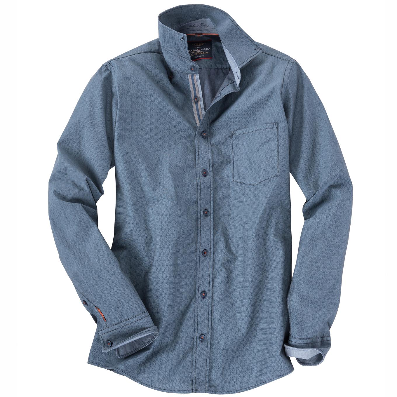 af0aaad98cae Gemustertes Langarm Freizeithemd blau 100   XXL · Zurück · CASA MODA