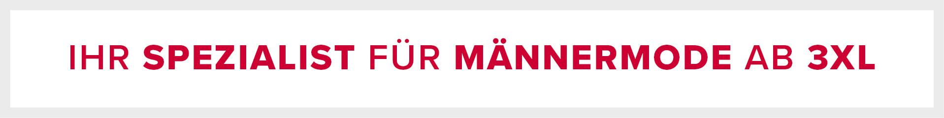 Informationsbild Ihr Spezialist für Männermode ab 3XL