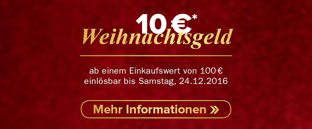 10 € Weihnachtsgeld